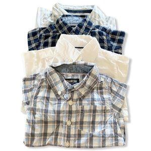 {Carter's/OshKosh} button down bodysuits- 12m